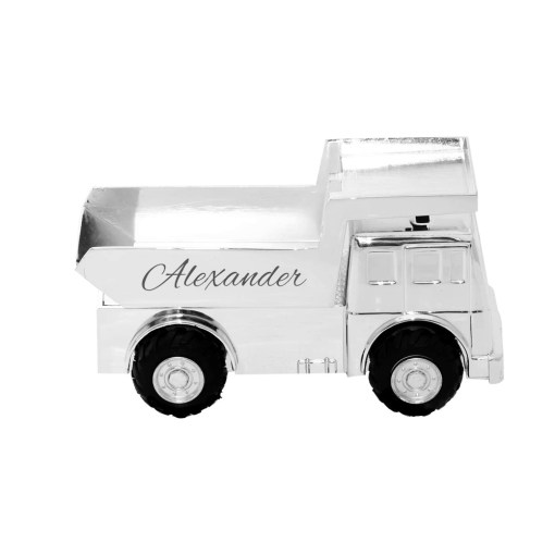 Spaarpot vrachtwagen met naam