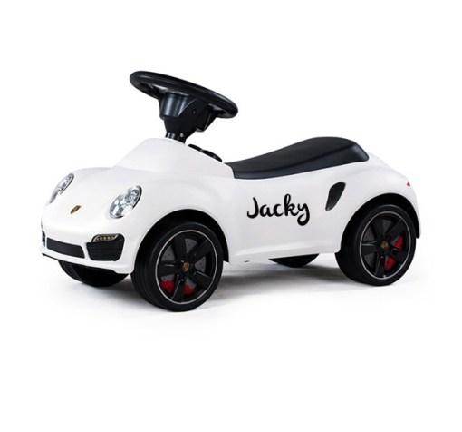 Porsche loopauto met naam