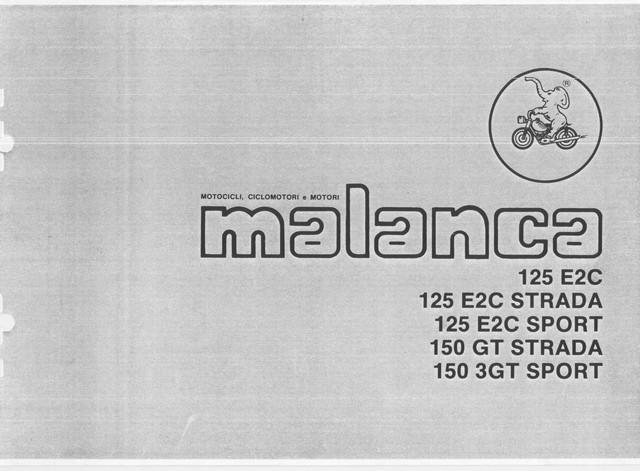 MANUALI MOTO: SPARE PARTS MANUAL MANUALE MALANCA 125 E2C
