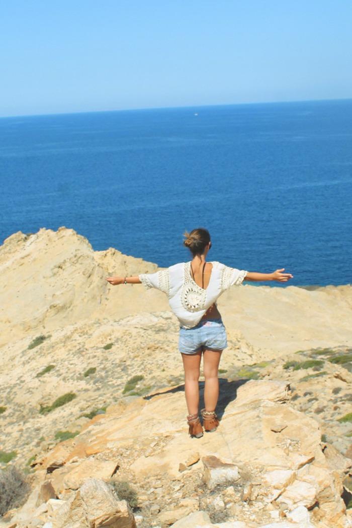 il mare e le spiagge selvagge di Antiparos-giorno 1