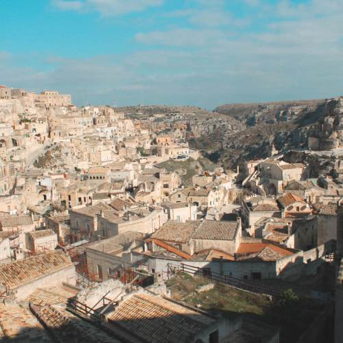 landscape of Matera seen from above