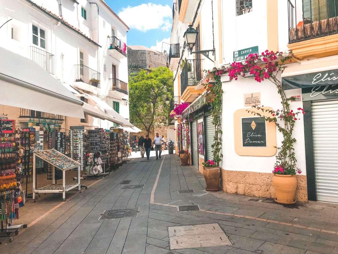 Ibiza center-narrow streets