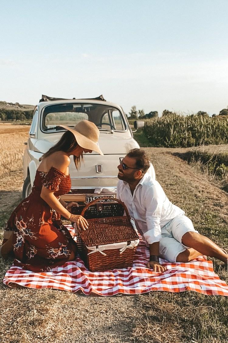 picnic romantico in Toscana