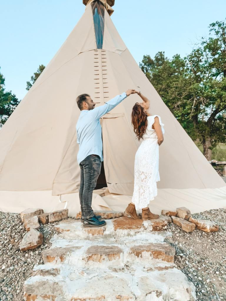 glamping the Sun Tuscany Indian Tepee