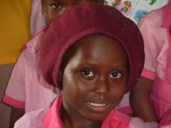 Vera Kpai, a nursery 2 student in Bodo, June 2012