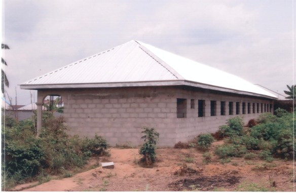 Our first round of funding to the school in Bori in July 2012 provided the rust-proof roof for their first classroom building.