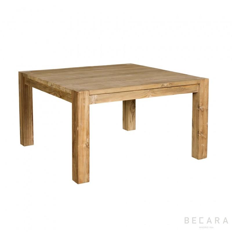 Mesa de comedor de teca cuadrada  Muebles en BECARA