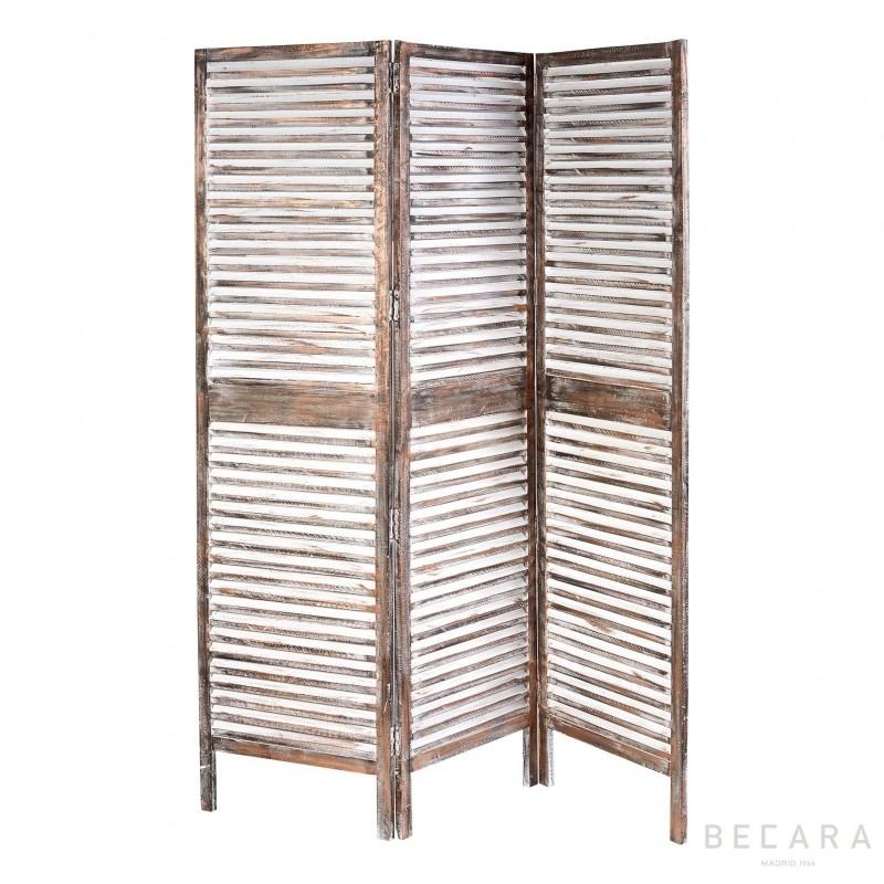 Wooden Copper Color Screen Room Divider Becara Tienda Online