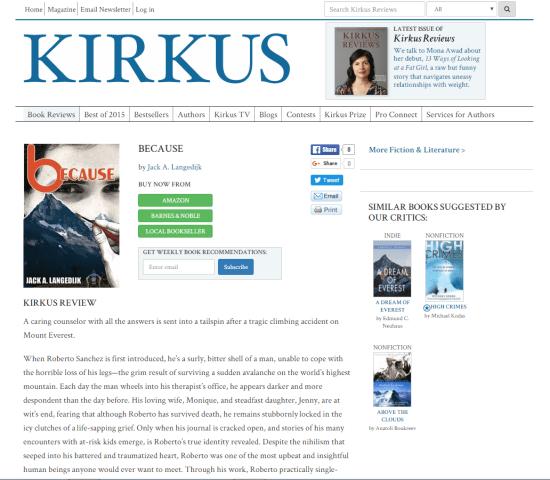 Kirkus @ www.because.zone