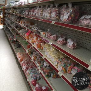 Bulk candy at JRs General Store in Bainbridge Ohio | Because Im Cheap