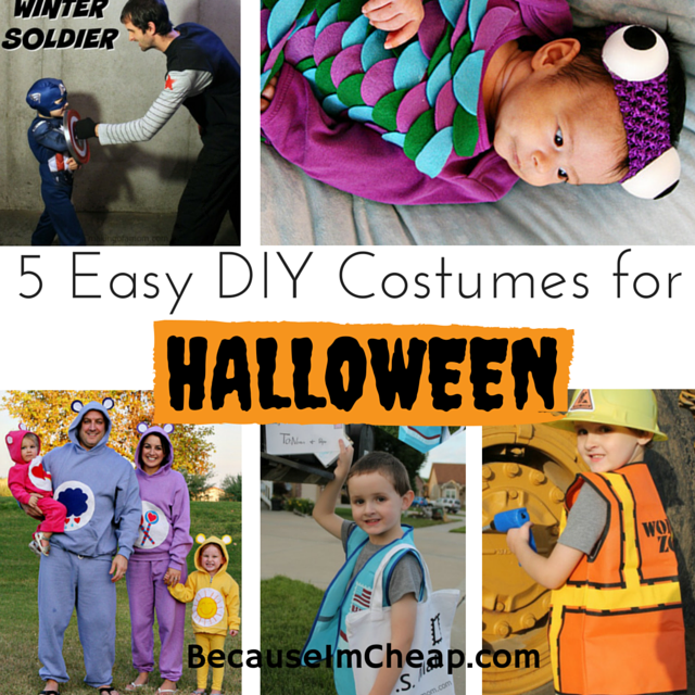 5 Easy DIY Costumes For Halloween | BecauseImCheap.com  sc 1 st  Because Iu0027m Cheap & 5 DIY Halloween Costume Ideas