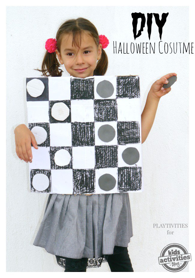 DIY Checkers Costume for Halloween | BecauseImCheap.com