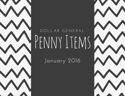 Dollar General penny items list for January