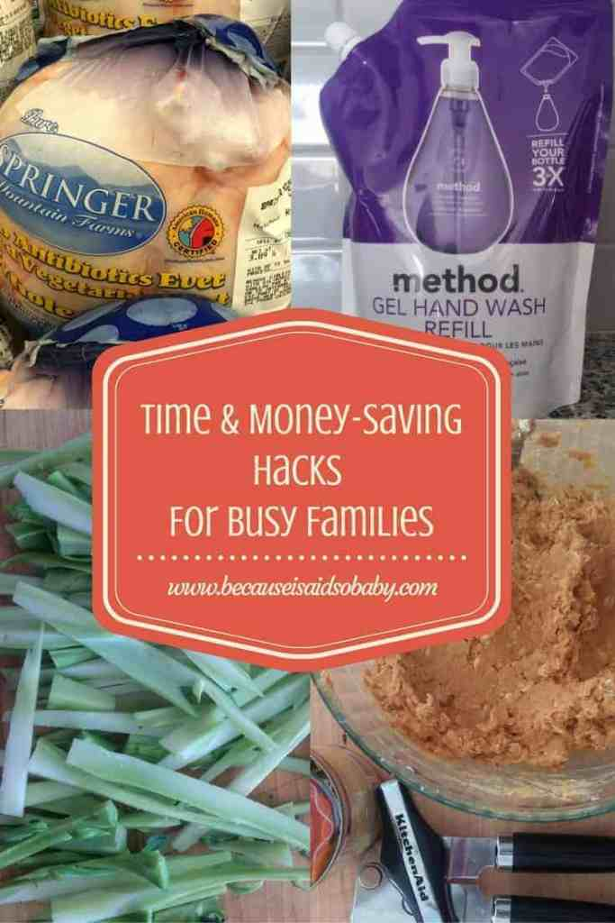 Time & Money Saving Hacks for Busy Families - plus a recipe for super easy 3 ingredients homemade dog treats!