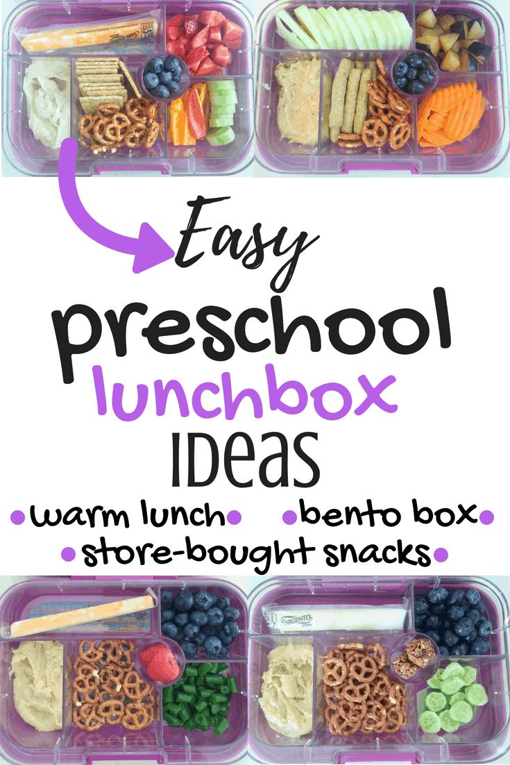 Easy Preschool Lunchbox Ideas