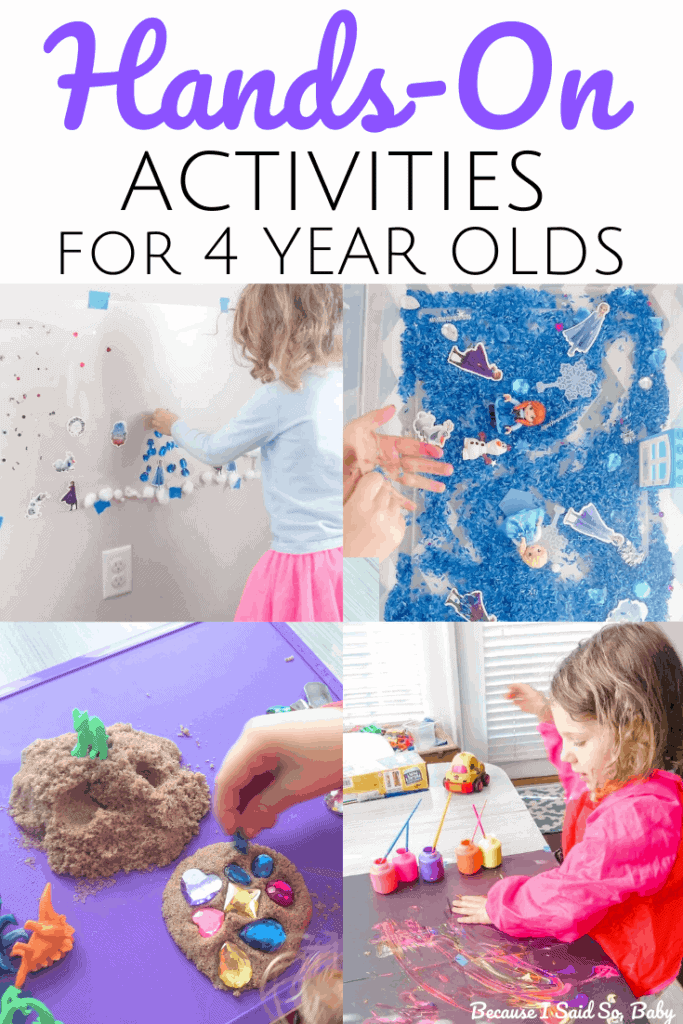 Hands On Activities For 4 Year Olds Because I Said So Baby