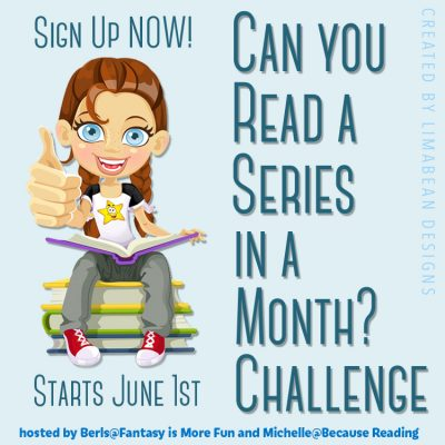 Can you read a series in a month challenge logo
