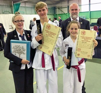 Instructors Mr & Mrs Bedingfield with Bella and Liam