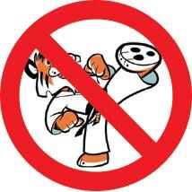 No Taekwondo training