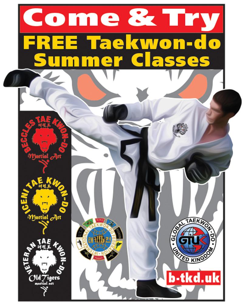 FREE Taekwondo Summer Classes Come & Try - Beccles Taekwondo | iceni