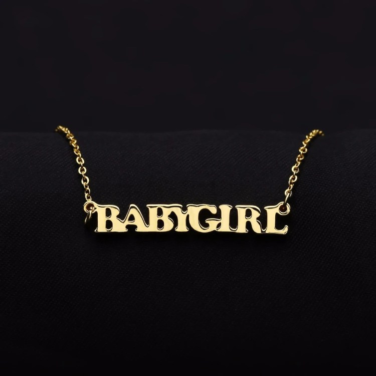 Custom Name Gold Necklace For Women Shine Name Necklace Ladies Regular Wear Necklace