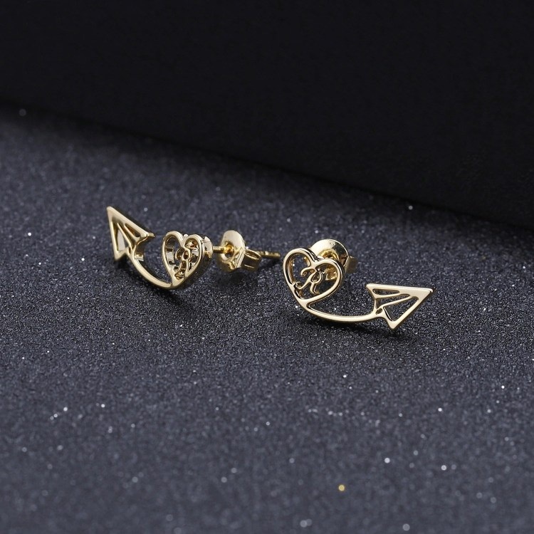 Gold Silver Rose Gold Custom Letter Stud Earrings For Ladies Beautiful Gift For Her