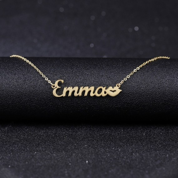 My Name Necklace Love Lips Custom Name Necklace Gold Silver Rose Gold