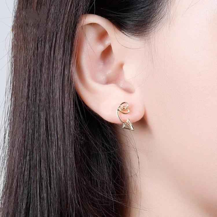 Personalized Arrow Heart Stud Earrings Custom Name Earrings For Ladies