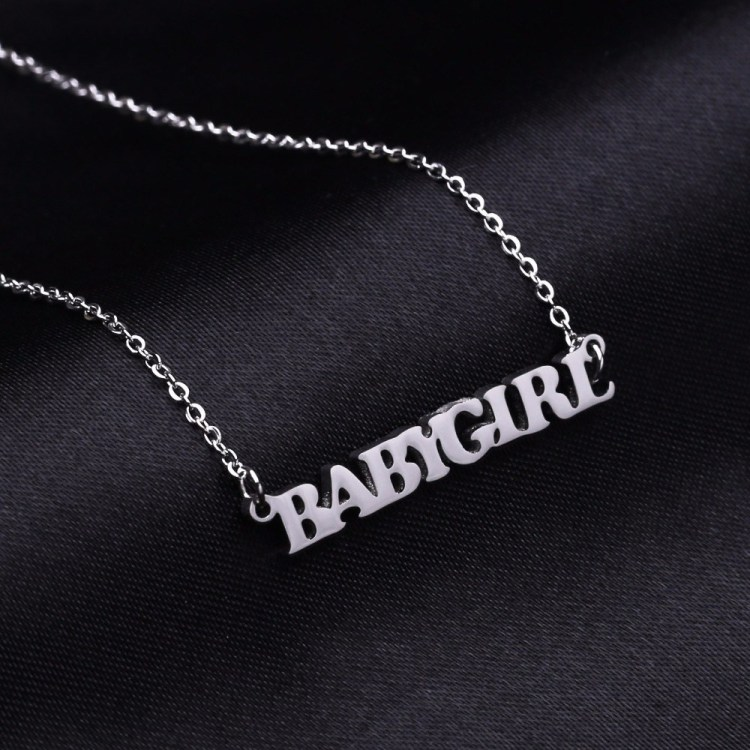 Personalized Minimalist Custom Name Necklace For Women Shine Name Necklace