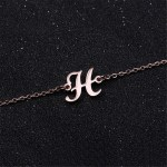 Personalized My Initial Bracelet Jewelry Best Quality Shine Letter Bracelet Single Letter Pendant Bracelet