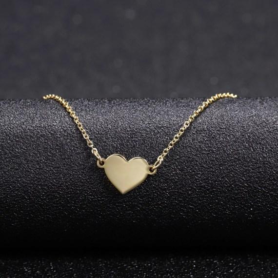 Heart Name Pendant Necklace Jewelry Women's Custom Name Necklace Beautiful Name Necklace With Heart Pendant