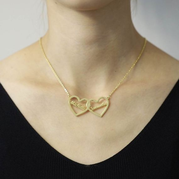 best gift women heart anniversary name necklace