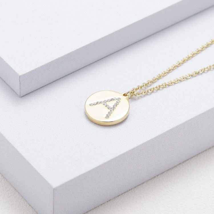 Alphabet Letter Single Initial Personalized Jewelry Chain For Ladies