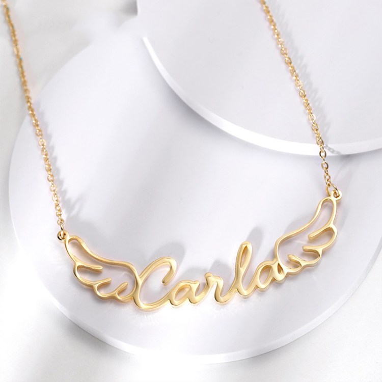 Angel Wings Custom Name Necklace For Women