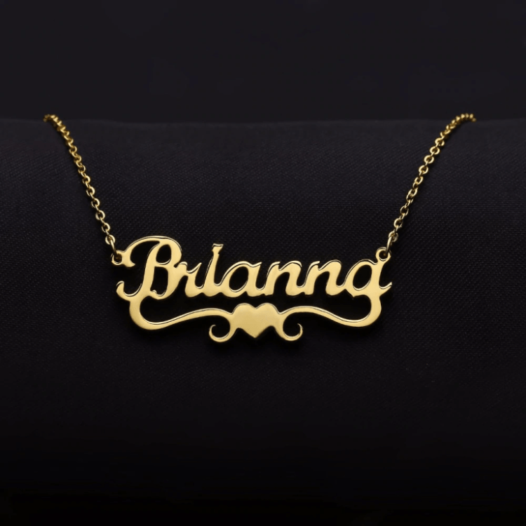 Custom Made High Quality Nameplate Necklace For Women