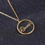 Round Stylish Name Necklace Beceff Jewelry For Ladies