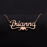 Shine Nameplate Rose Gold Necklace Link Chain Necklace Chain Women's Name Chain