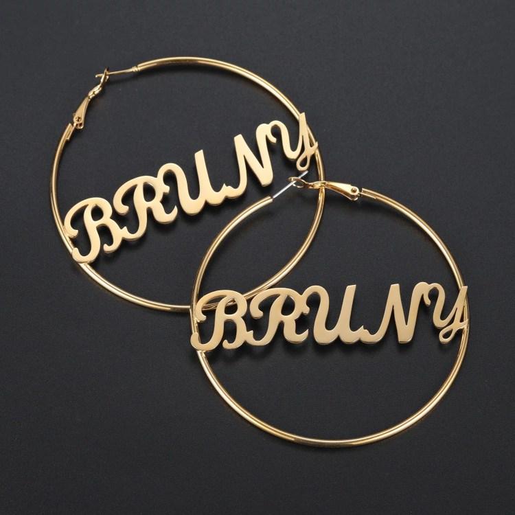 Customized Hoop Earrings For Women Fashion Jewelry