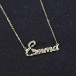 iced out crystal sparkling shine name necklace