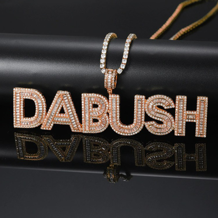 Custom Iced Out US Hip Hop Custom Jewelry Necklace Chain For Best Rapping Gift Ideas For Rappers