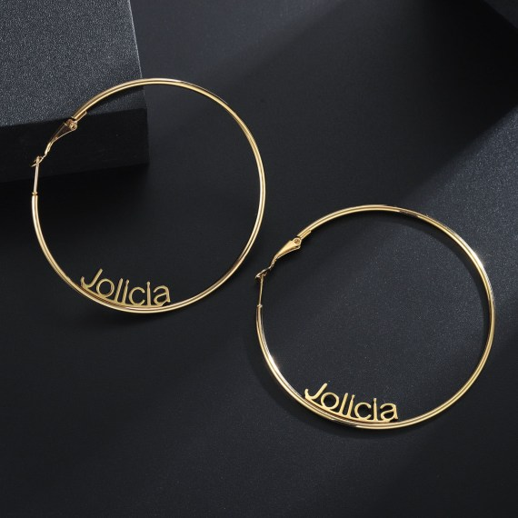 Personalized hoop earrings with english lowercase letters simple letters women jewelry gift ideas fashion