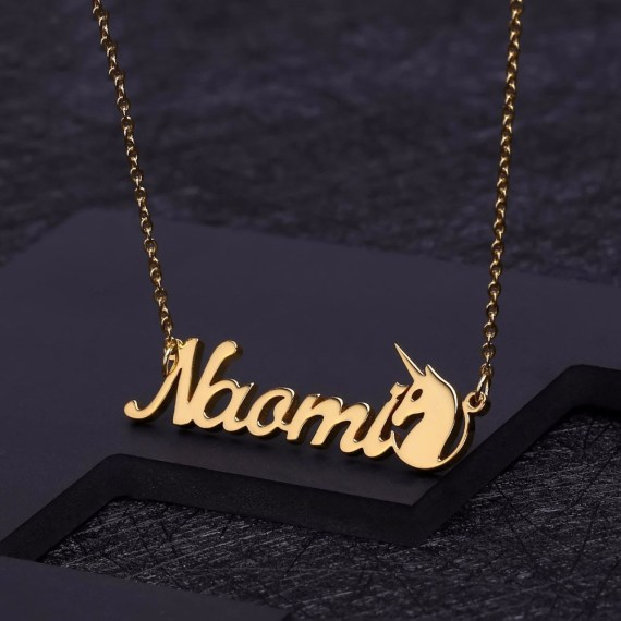 Personalized name necklaces pendants for women stainless steel men jewelry customized gift
