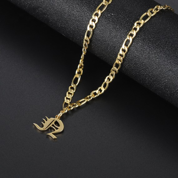 Custom fashion men woven name necklace with bracelet anklet personalized letter gold choker pendant nameplate gift