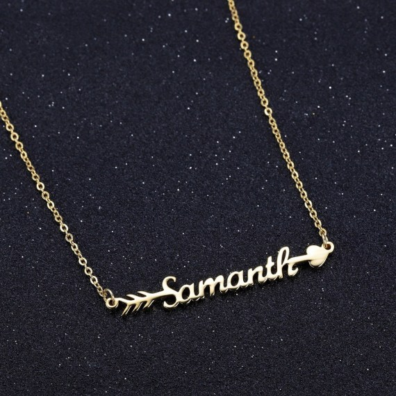 cupid love arrow name necklace for girlfriend fiance wife on anniversary valentines day