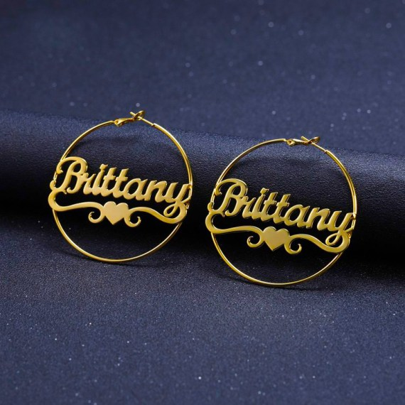 Large-bamboo-earring-custom-name-jewelry-sparkling-iced-out-heart-hoop-earrings