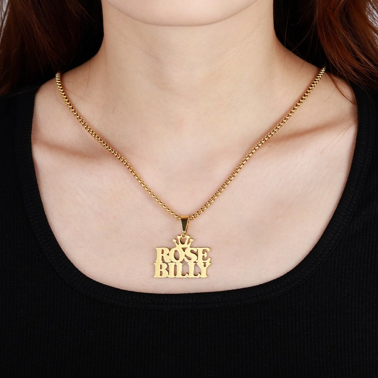 Multiline Custom 3 Names Necklace Personalized Made Jewelry Ready Made Jewelry Wear For Women Casual Name Necklace Crown Name Necklace