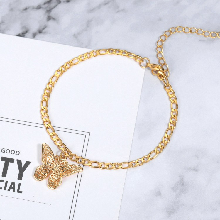fashion butterfly anklet design