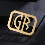 personalized custom belt buckle with 2 letters for men