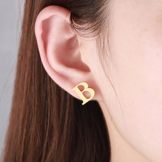 Simple Looking Custom English Letter Earring Personalized Initial Earrings For Women Premium Quality Earrings For My Sister And Her Friends