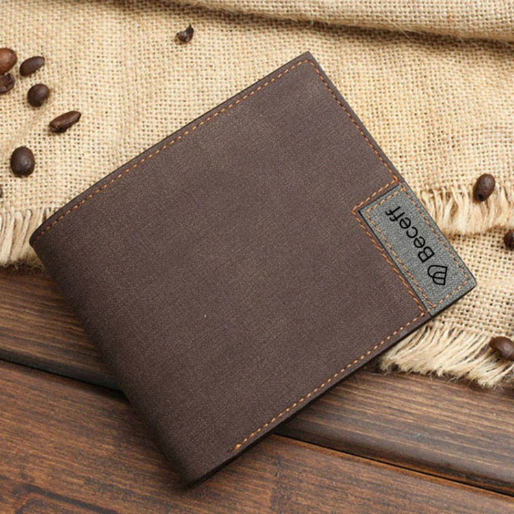 father's day custom photo personalized wallet design in brown leather